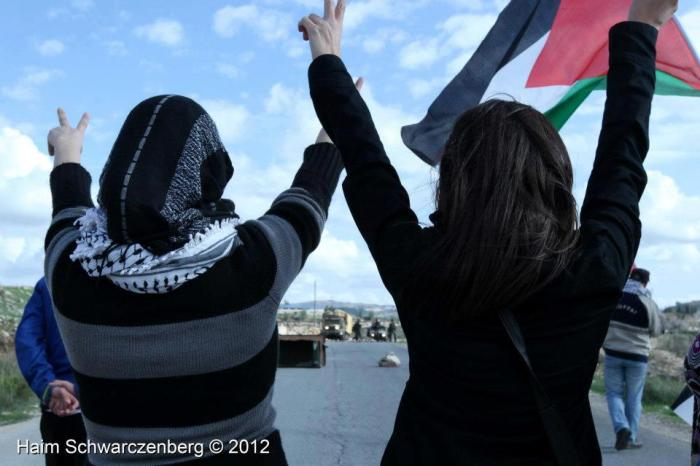 women and flags - Haim Schwarczenberg