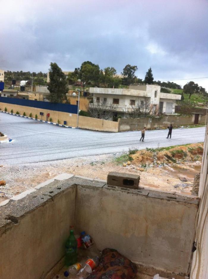 snow in Nabi Saleh - 9Jan13