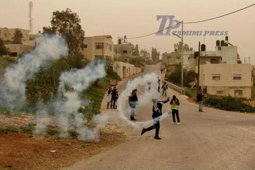tamimi press returning teargas