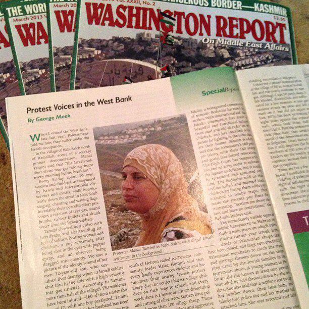 washington report cover with manal