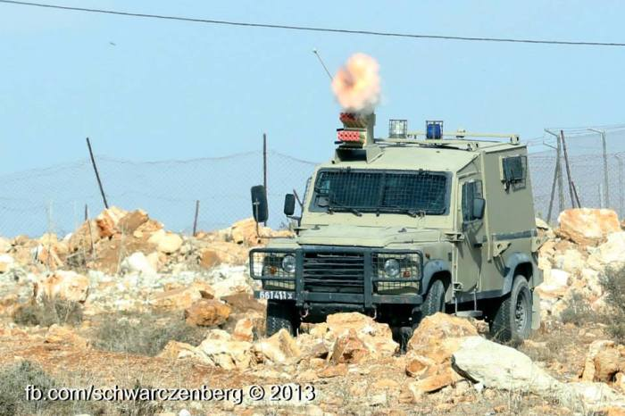 iof firing teargas from jeep