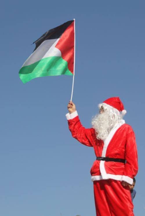 santa and flag