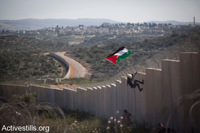 Protest against the wall, Bilin, West Bank, 28,2,2014