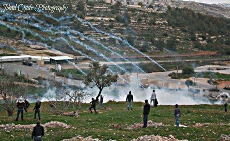 ofer prison  4 april teargas